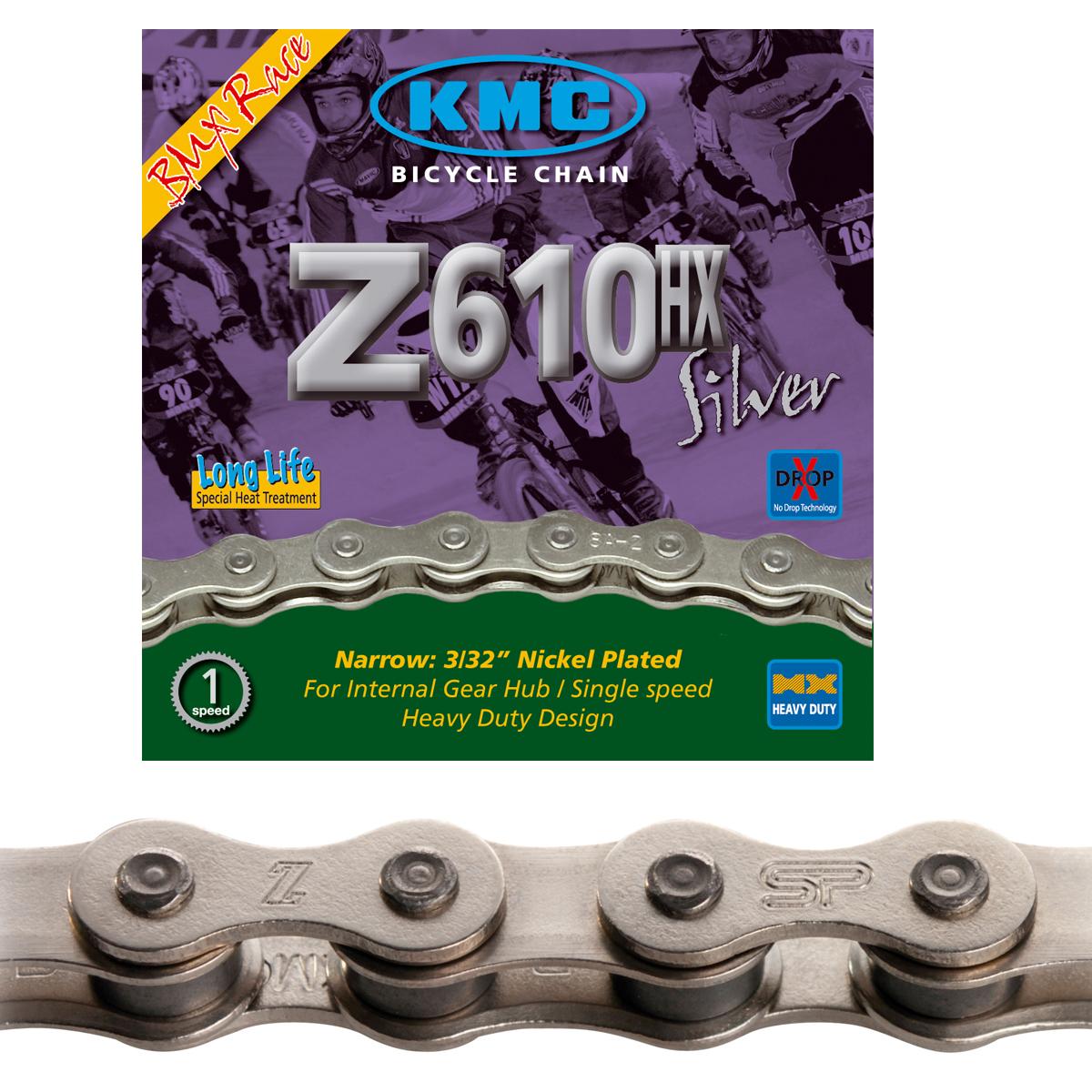 Chaîne BMX KMC Z610HX Silver 112 maillons