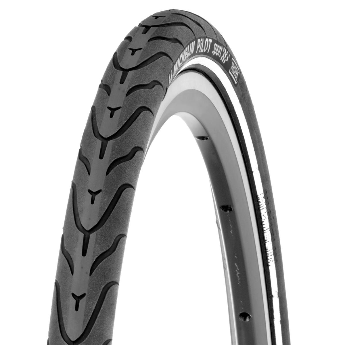 Pneu 700 x 28 Michelin Pilot Sport Noir/Bande réfléchissante