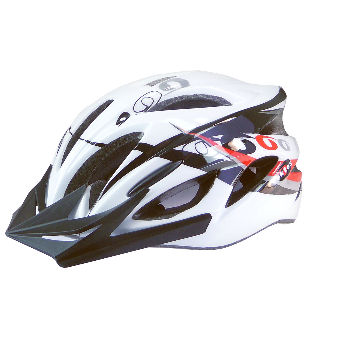 Casque vélo adulte Oktos design Rings V2 (54-58 cm) Blanc