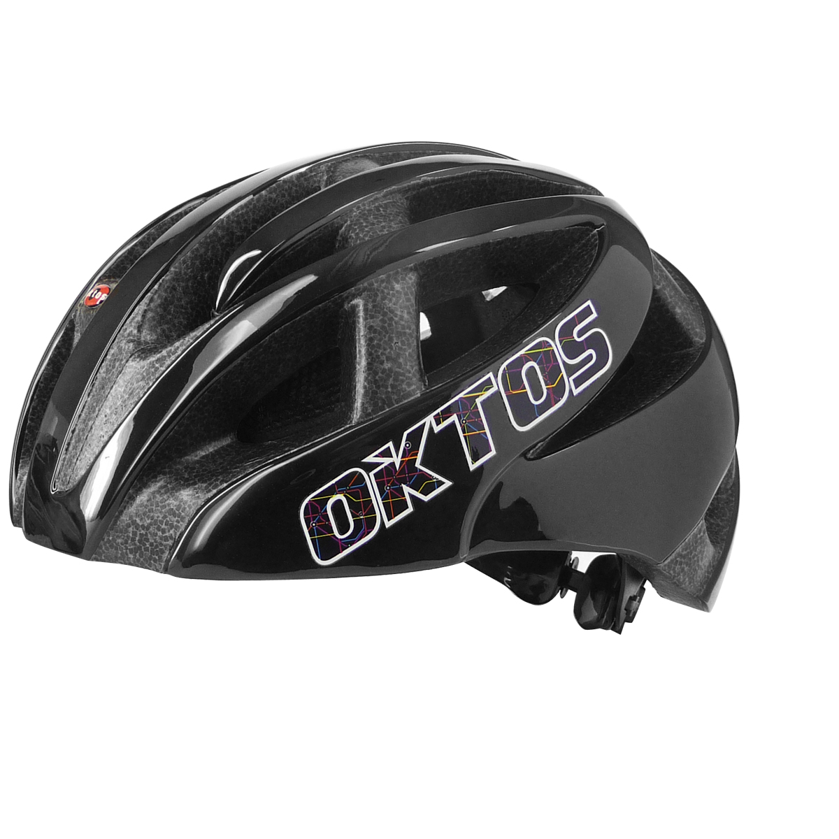 Casque vélo adulte Oktos City Map double inmold noir M