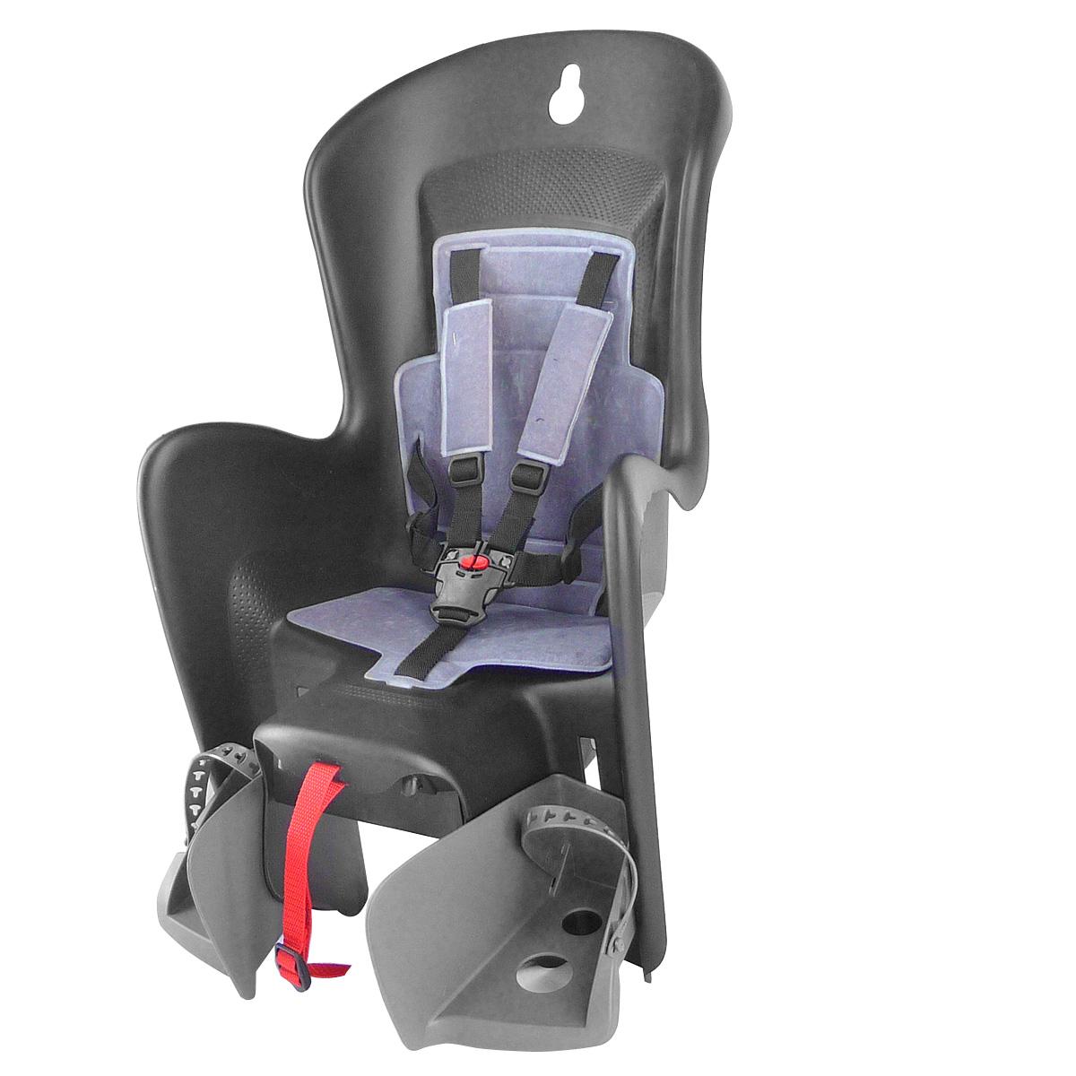 Porte-bébé arrière Polisport Bilby noir/gris