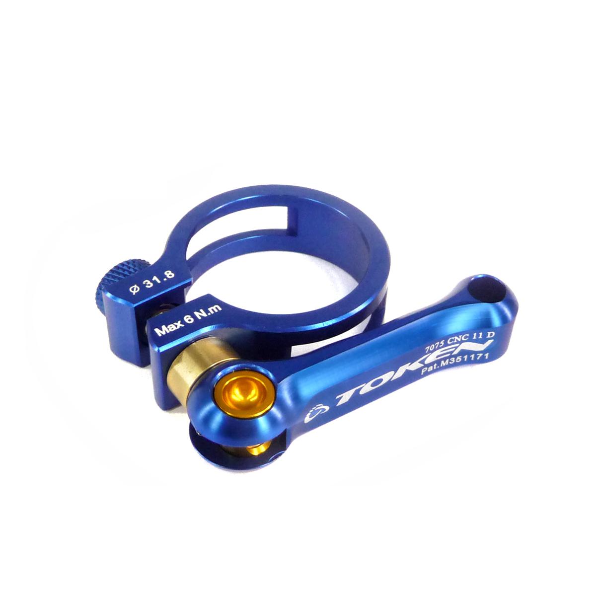 Collier de selle Token blocage rapide 31,8 mm Bleu