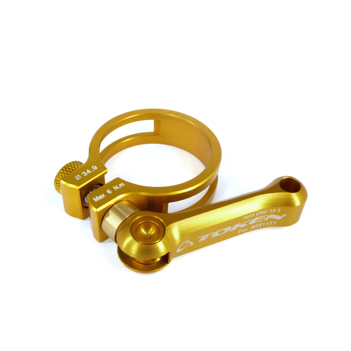 Collier de selle Token blocage rapide 34,9 mm Or