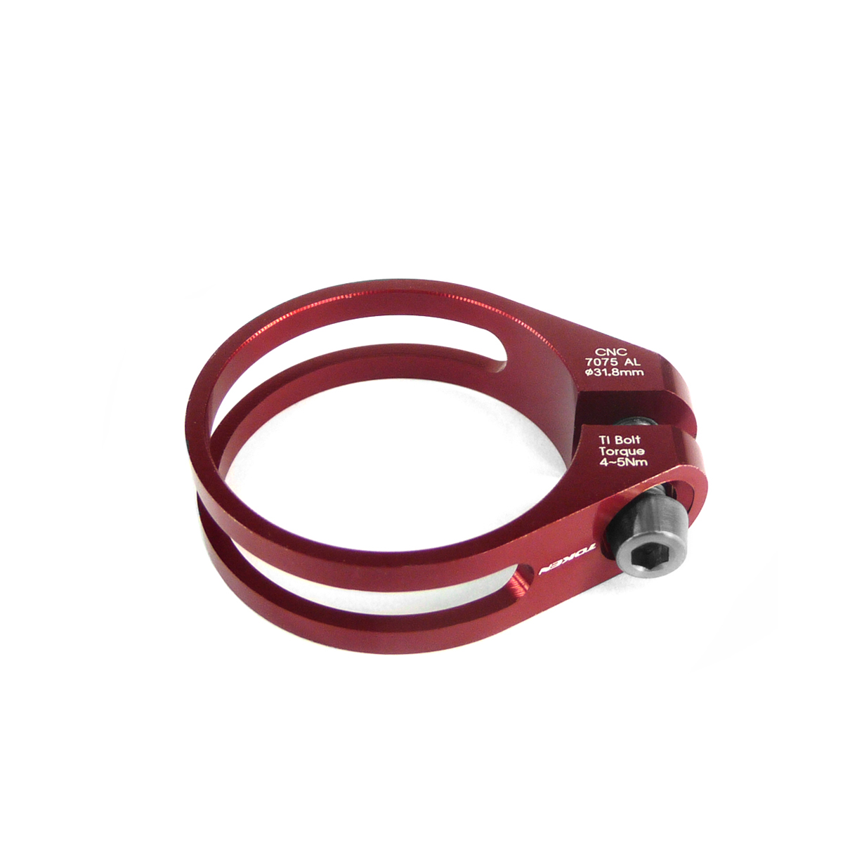 Collier de selle Token ultra light 31,8 mm Rouge