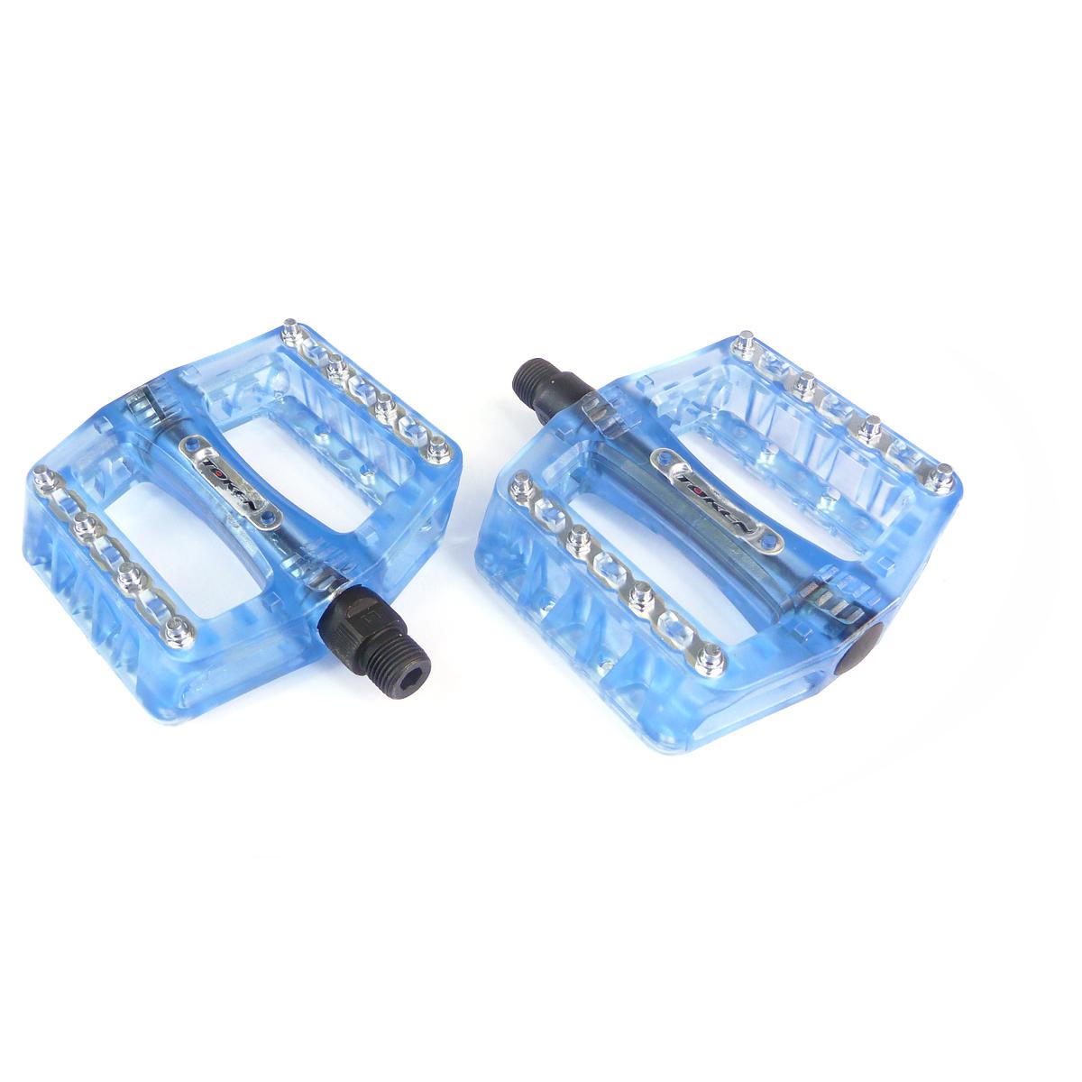 Pédales Token BMX pointes remplaçables bleues