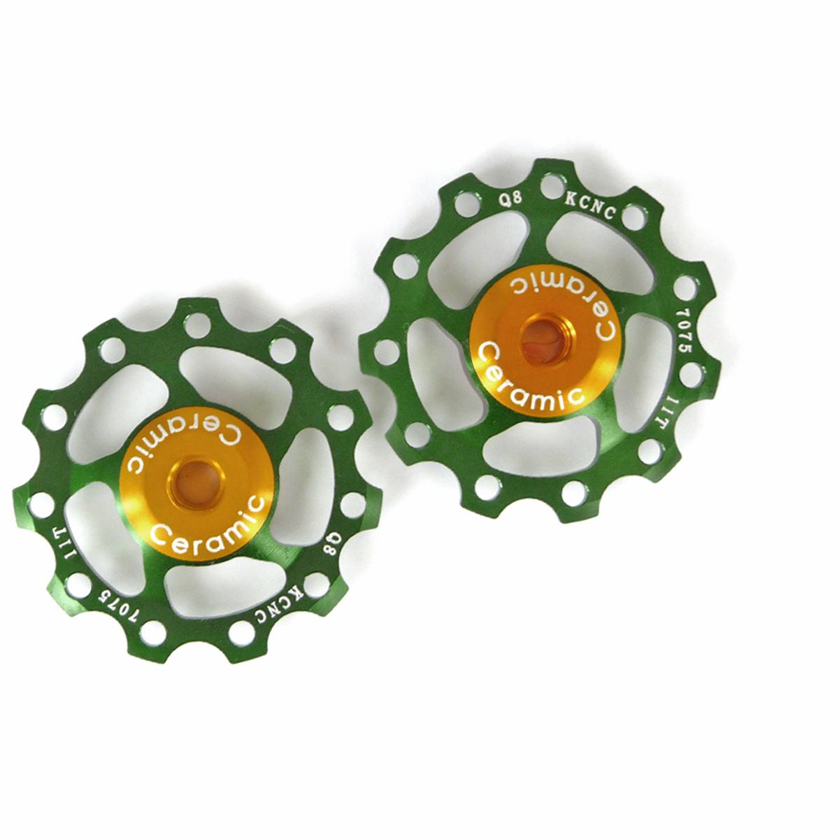 Galets de dérailleur KCNC x2 roulements céramique vert