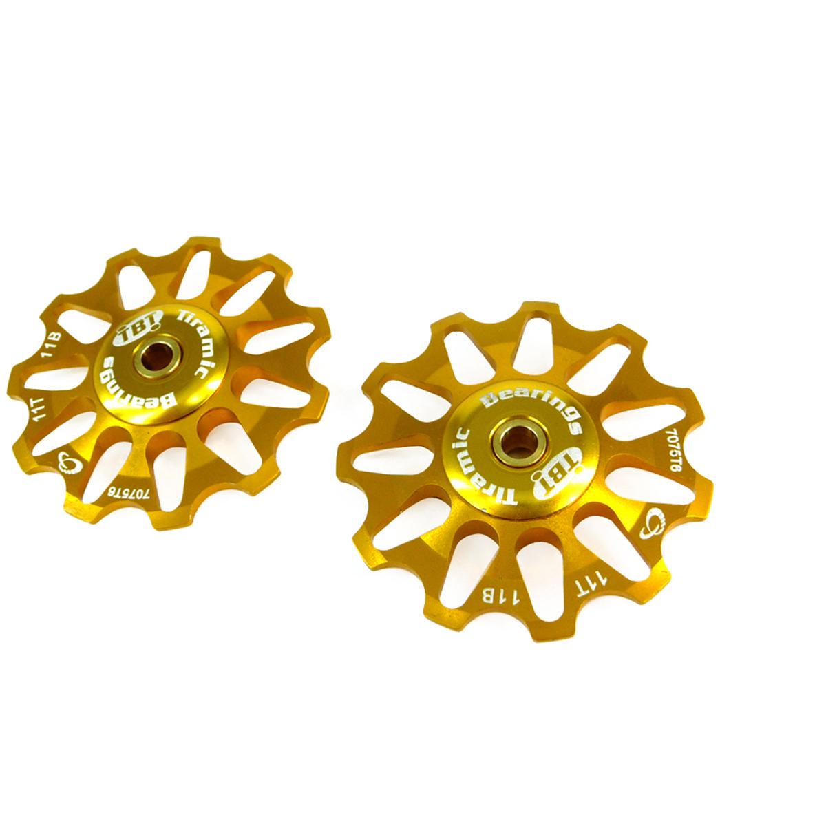 Galets de dérailleur Token 11 dents compatible Shimano/Campagnolo/SRAM XO roulements céramique or