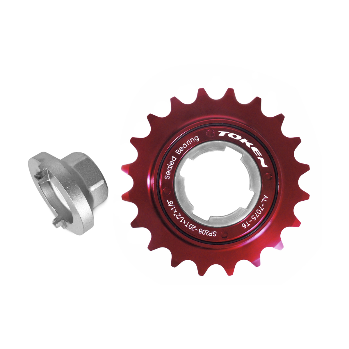 Roue libre Token 20 dents monovitesse Rouge