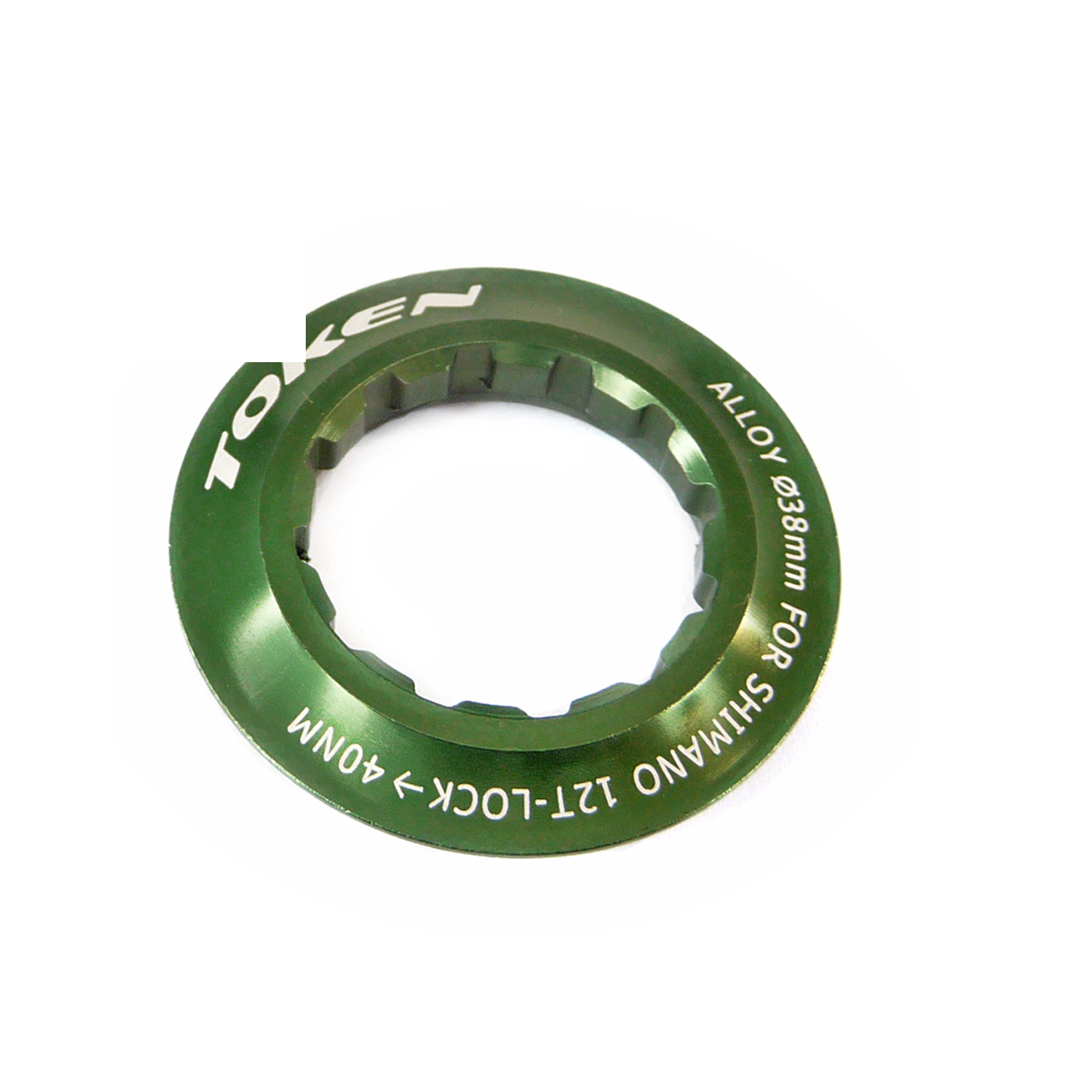 Écrou de cassette Token Shimano 12 dents vert