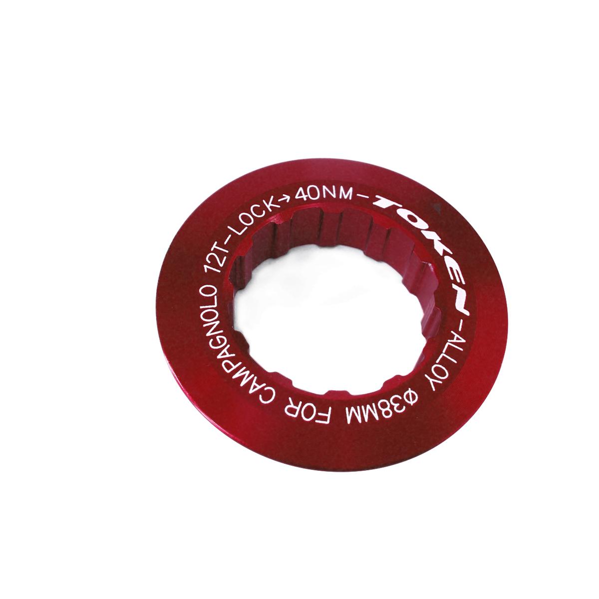 Écrou de cassette Token Campagnolo 12 dents Rouge