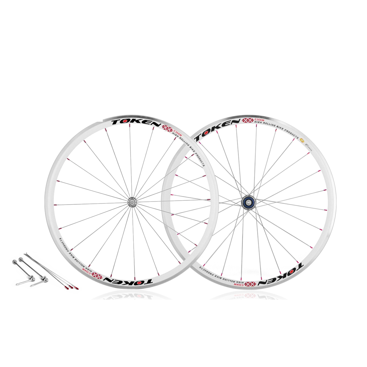 Roues Token route C30AW alu blanc Campagnolo (la paire)
