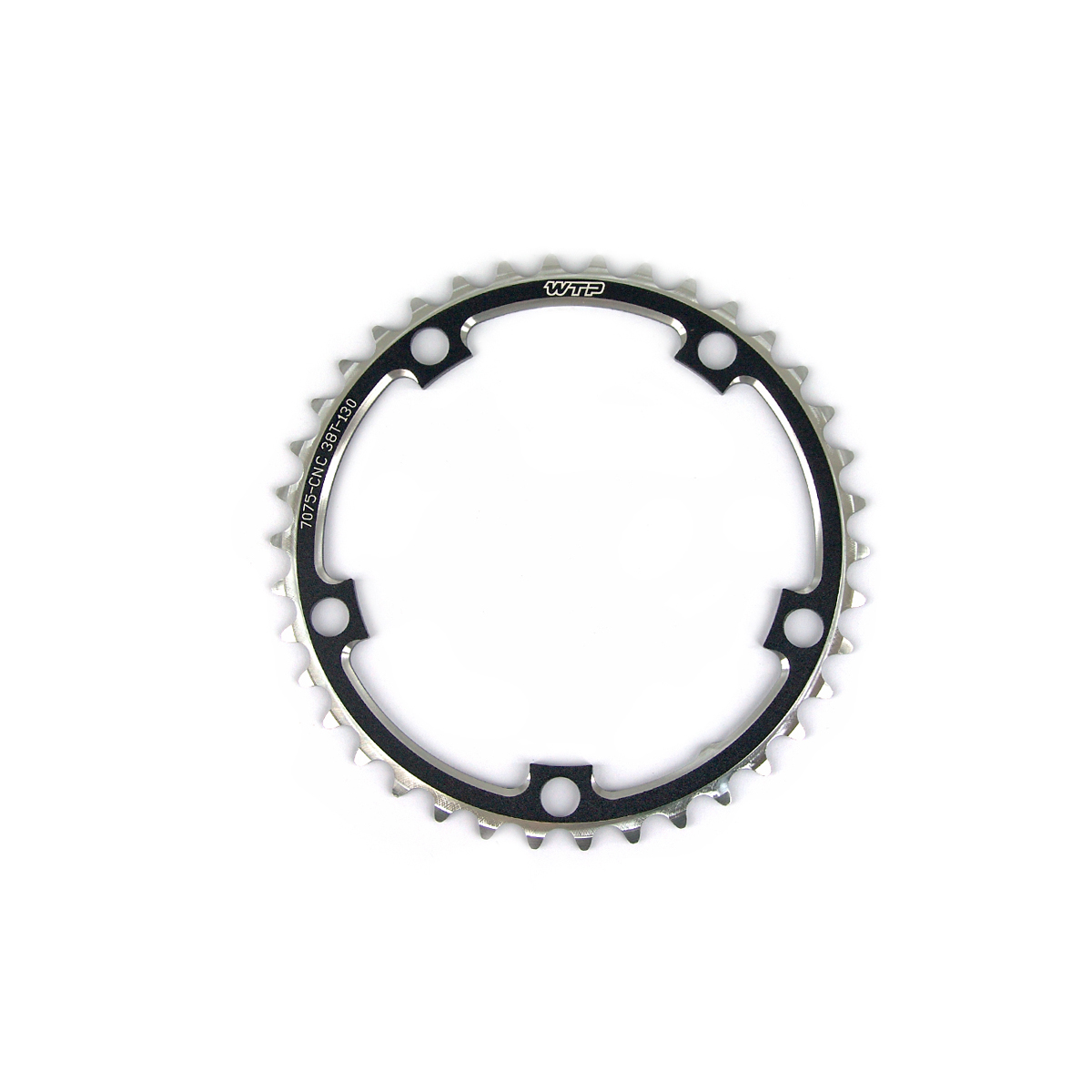 Plateau WTP 50 dents route compact 110 mm Noir