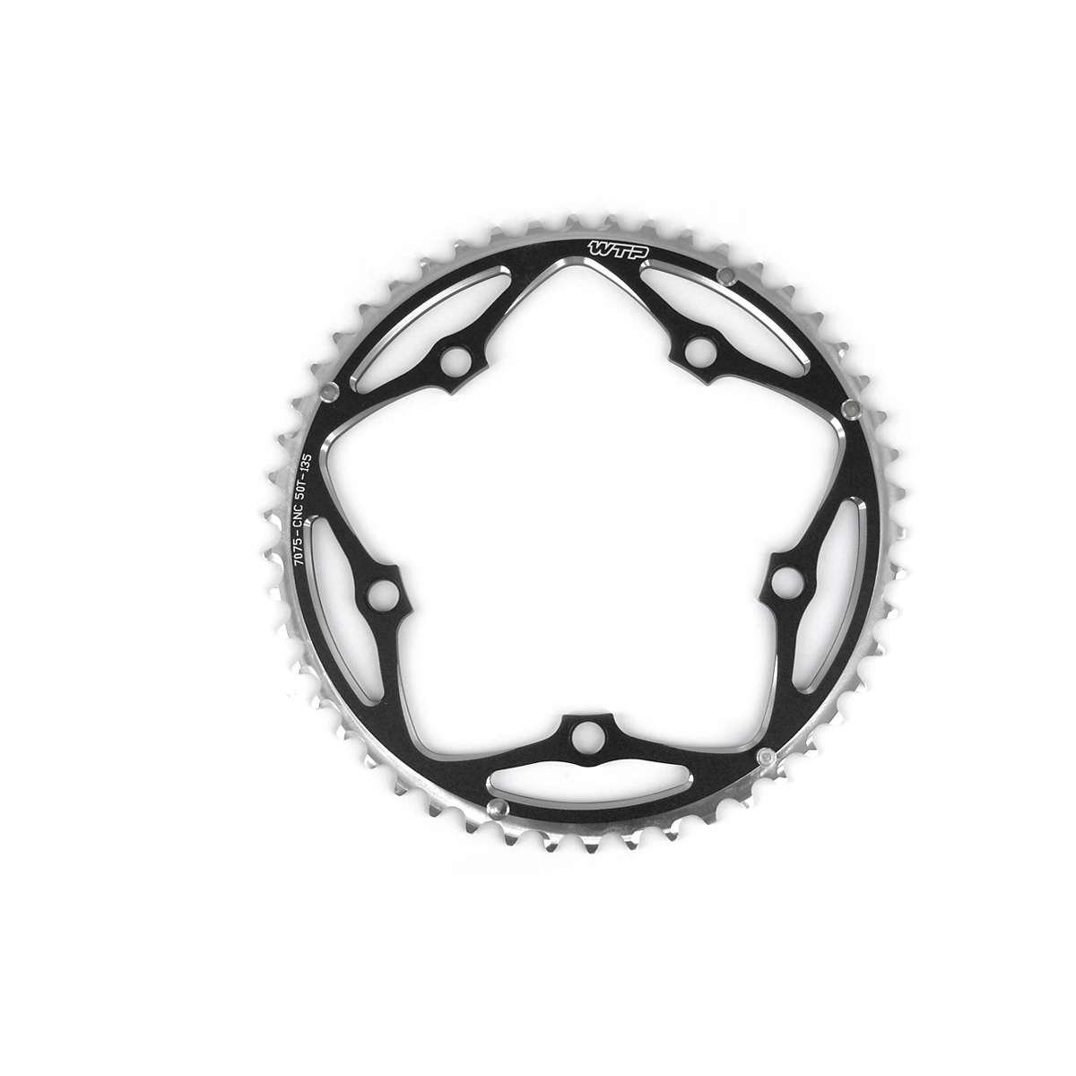 Plateau WTP 50 dents route Campagnolo 135 mm Noir
