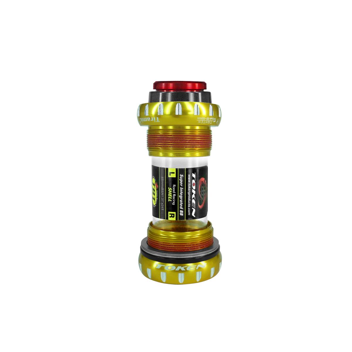 Boîtier pédalier intégré Token route comp. Shimano 68 mm Rlts céramique or