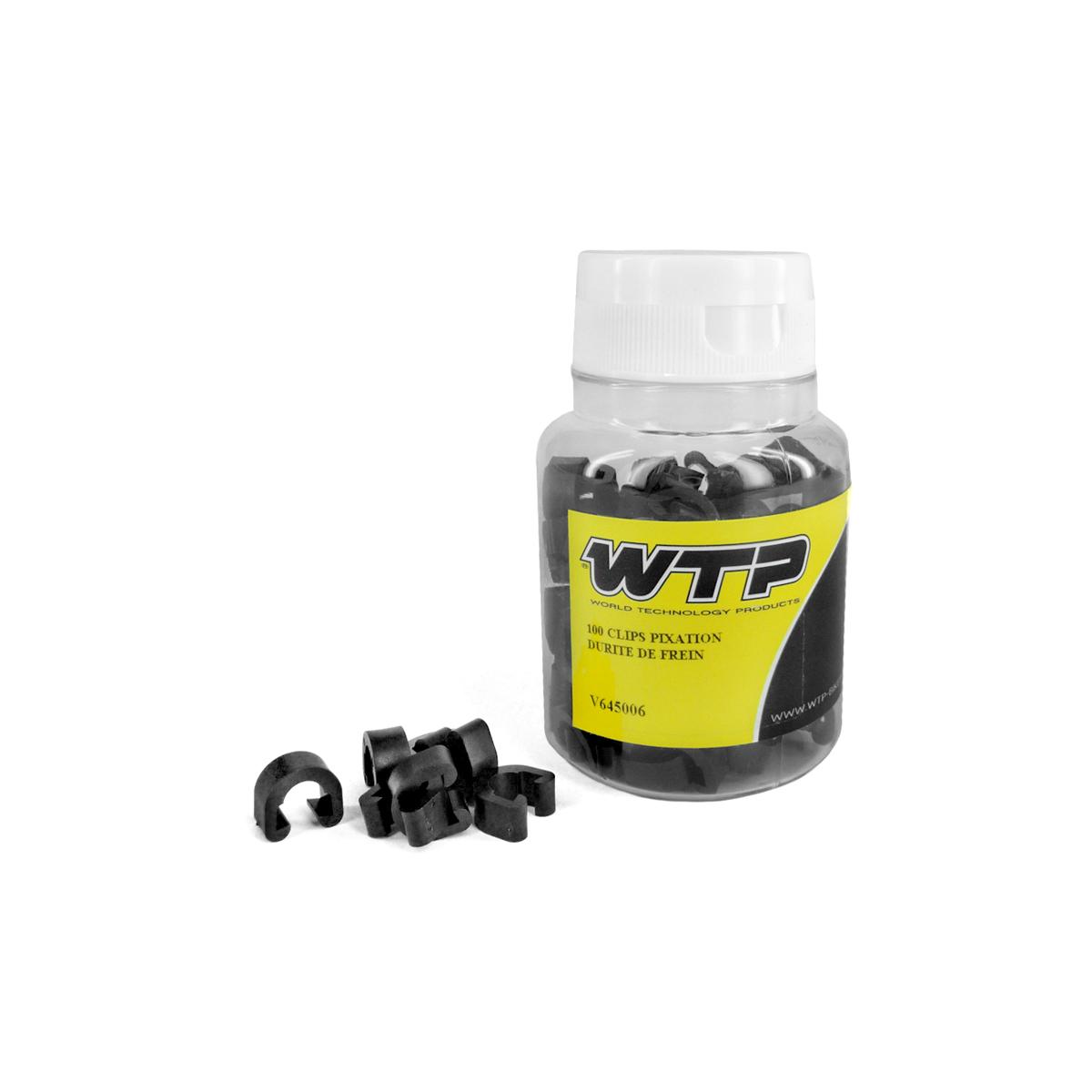 Boite de 100 clips WTP fixation durite de frein Noir