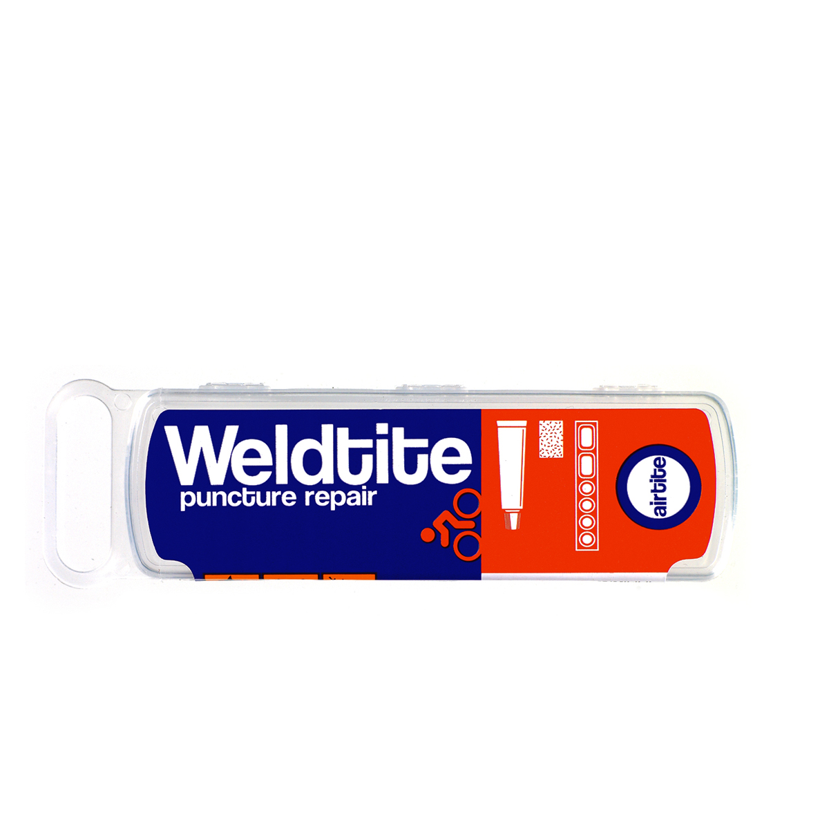 Nécessaire de réparation Weldtite (rustines + tube dissolution)