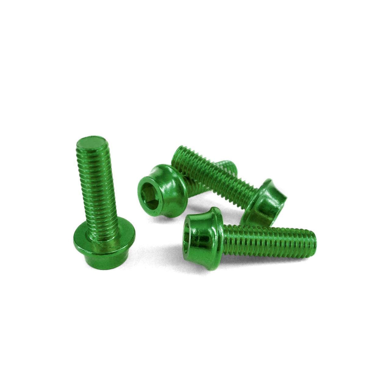 Vis porte-bidon Token aluminium 5x16 mm vert (jeu de 4 vis)