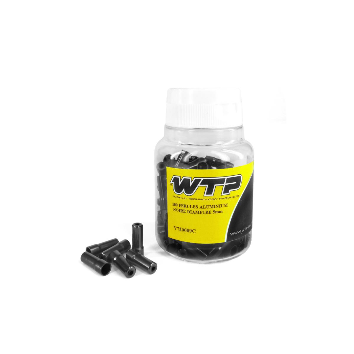 Embout gaine WTP aluminium Noir 5 mm (boîte de 100)