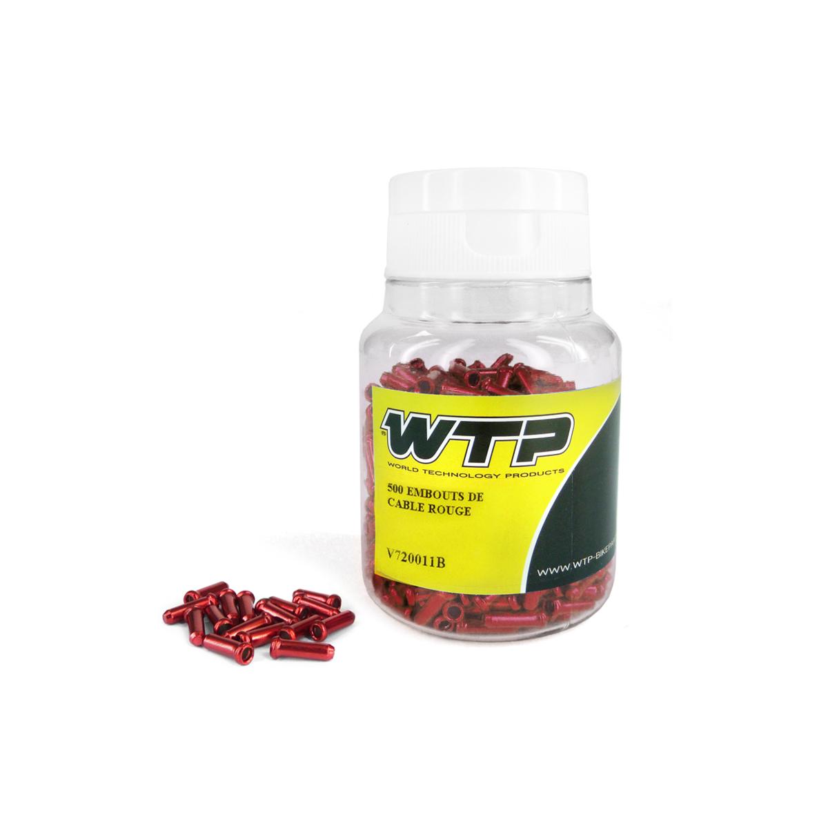 Embout de câble WTP Alu (boîte de 500) Rouge