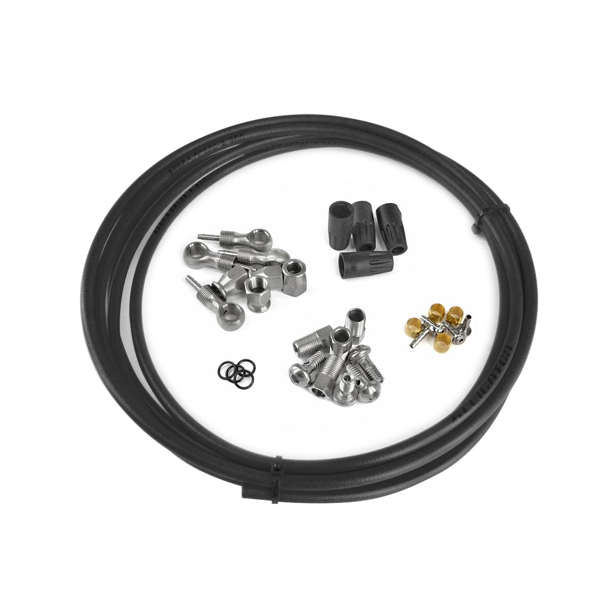 Kit complet durite frein hydraulique universel noir