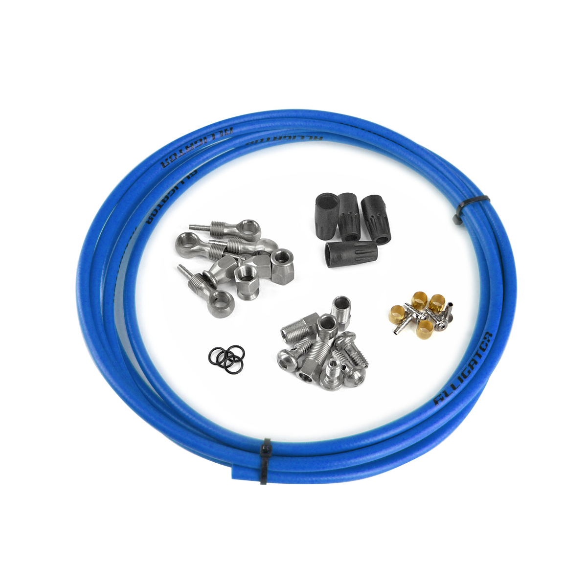 Kit complet durite frein hydraulique universel bleu