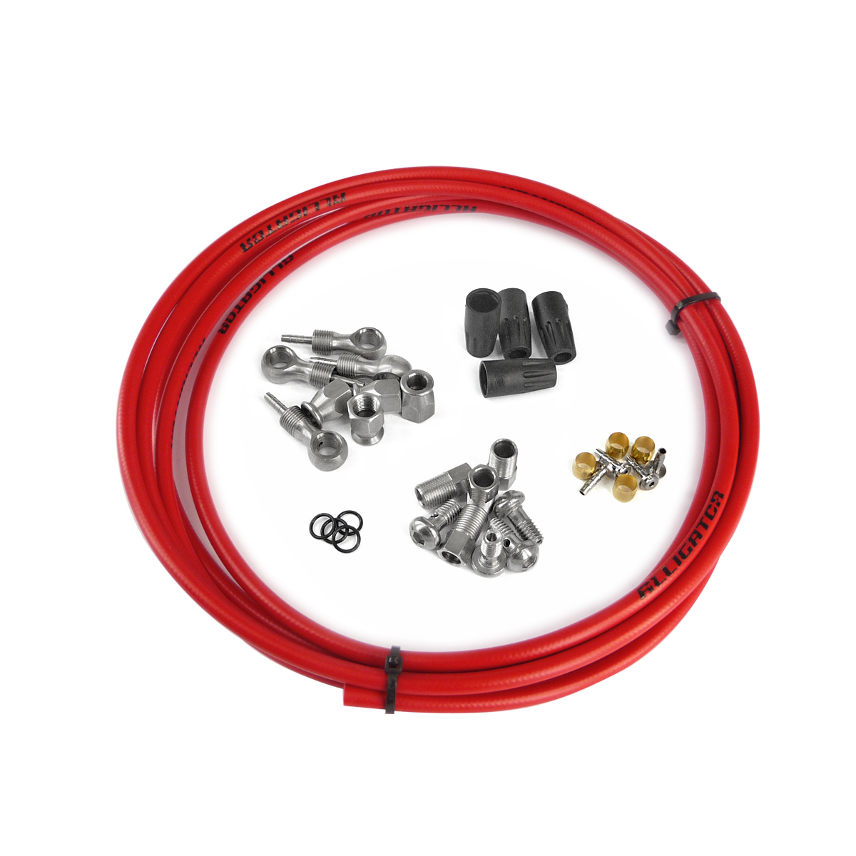 Kit complet durite frein hydraulique universel rouge