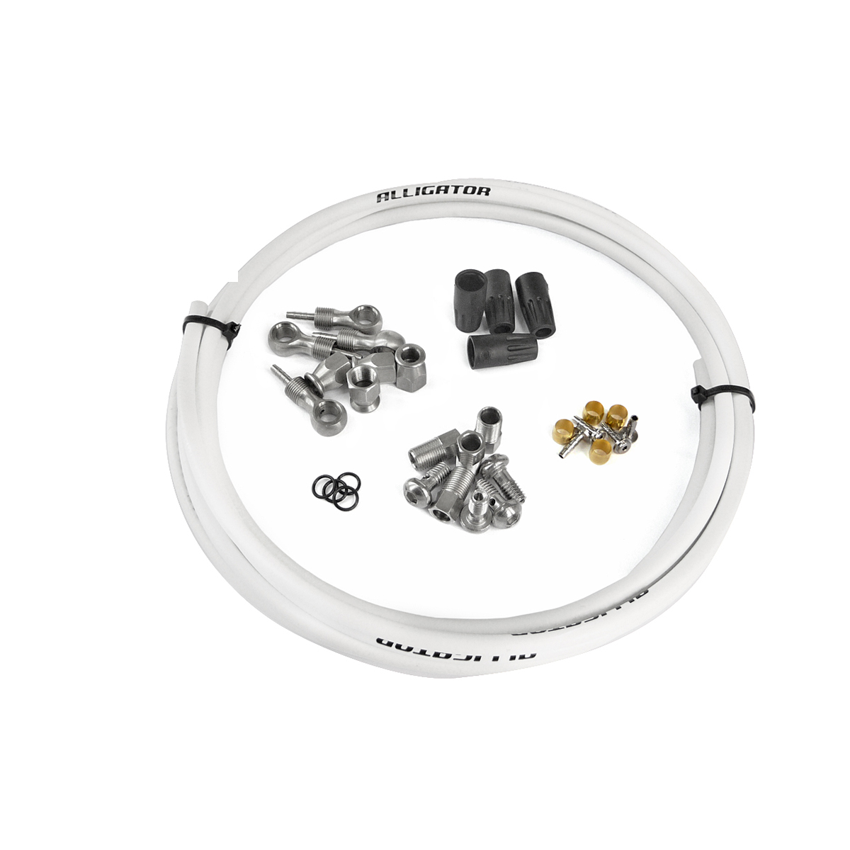 Kit complet durite frein hydraulique universel blanc
