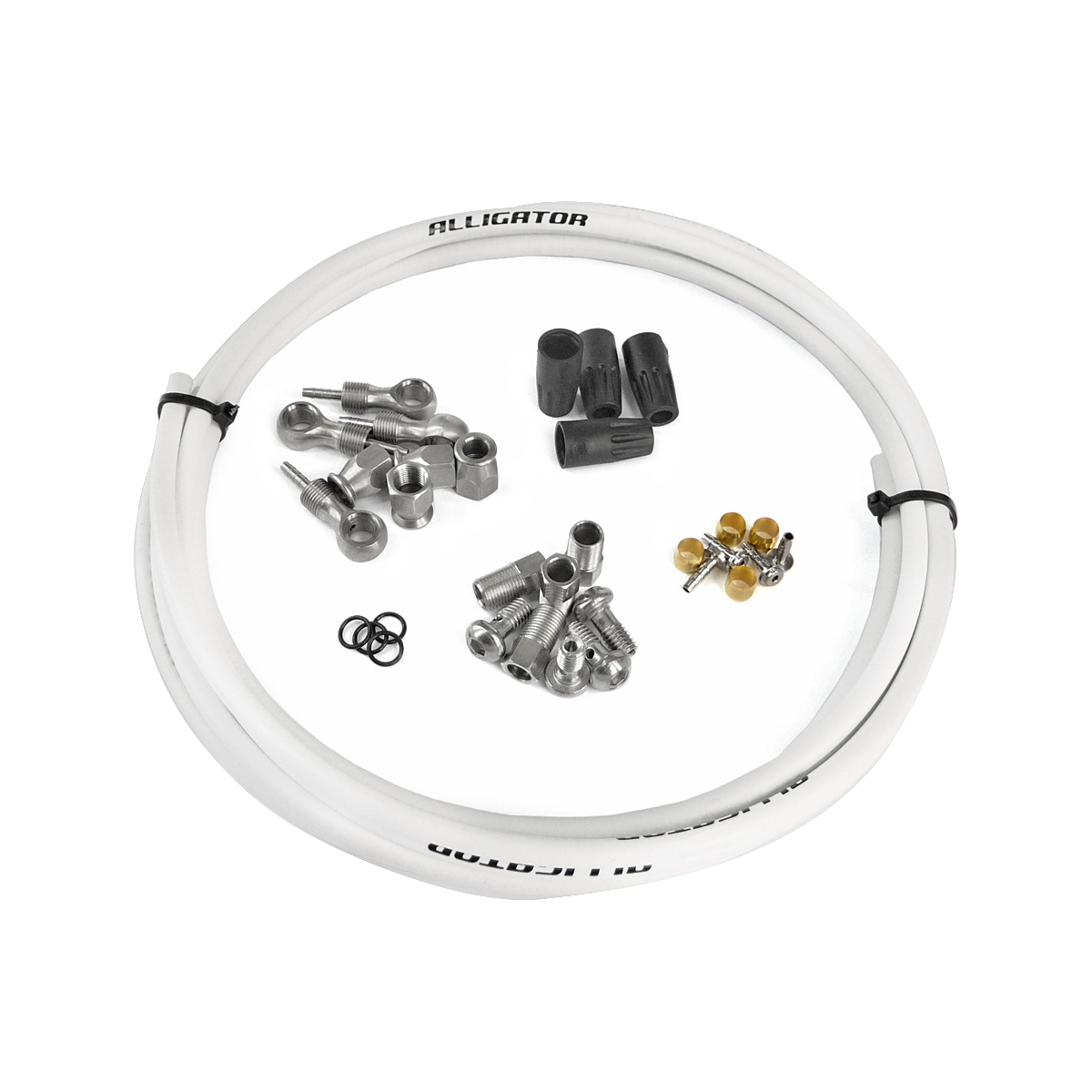 Kit durite compatible Shimano Deore XT / Deore Grimeca Blanc