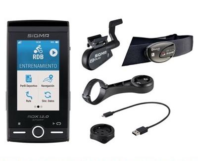Compteur GPS Sigma ROX 12.0 Sport Set Cardio/Cadence Gris