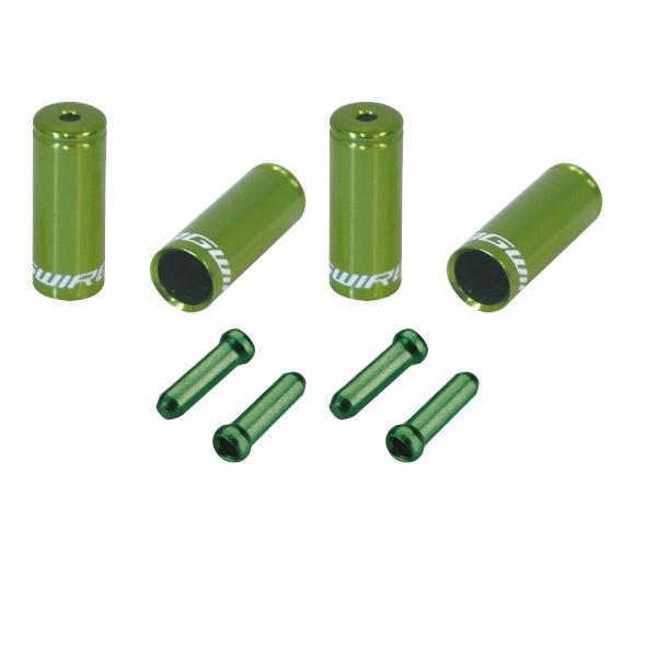 Pack arrêts de gaines et embouts Jagwire Universal Pro - Vert