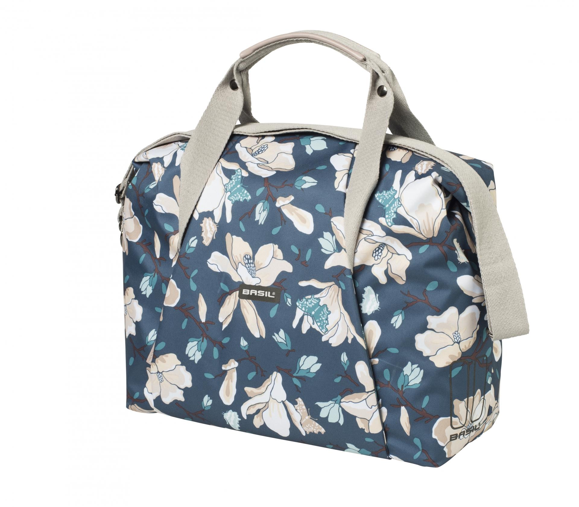 Sac BASIL Magnolia Fix.rapide Hook-On sur porte-bagages avant-arrière + housse imperméable 18 L Teal