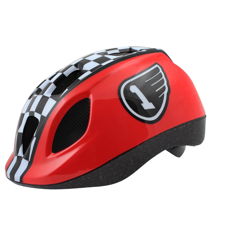 Casque vélo Race Junior Rouge/Blanc/Noir - 52/56