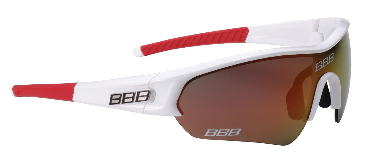 Lunettes Team BBB Select verre Revo rouge (blanc/rouge) - BSG-43T