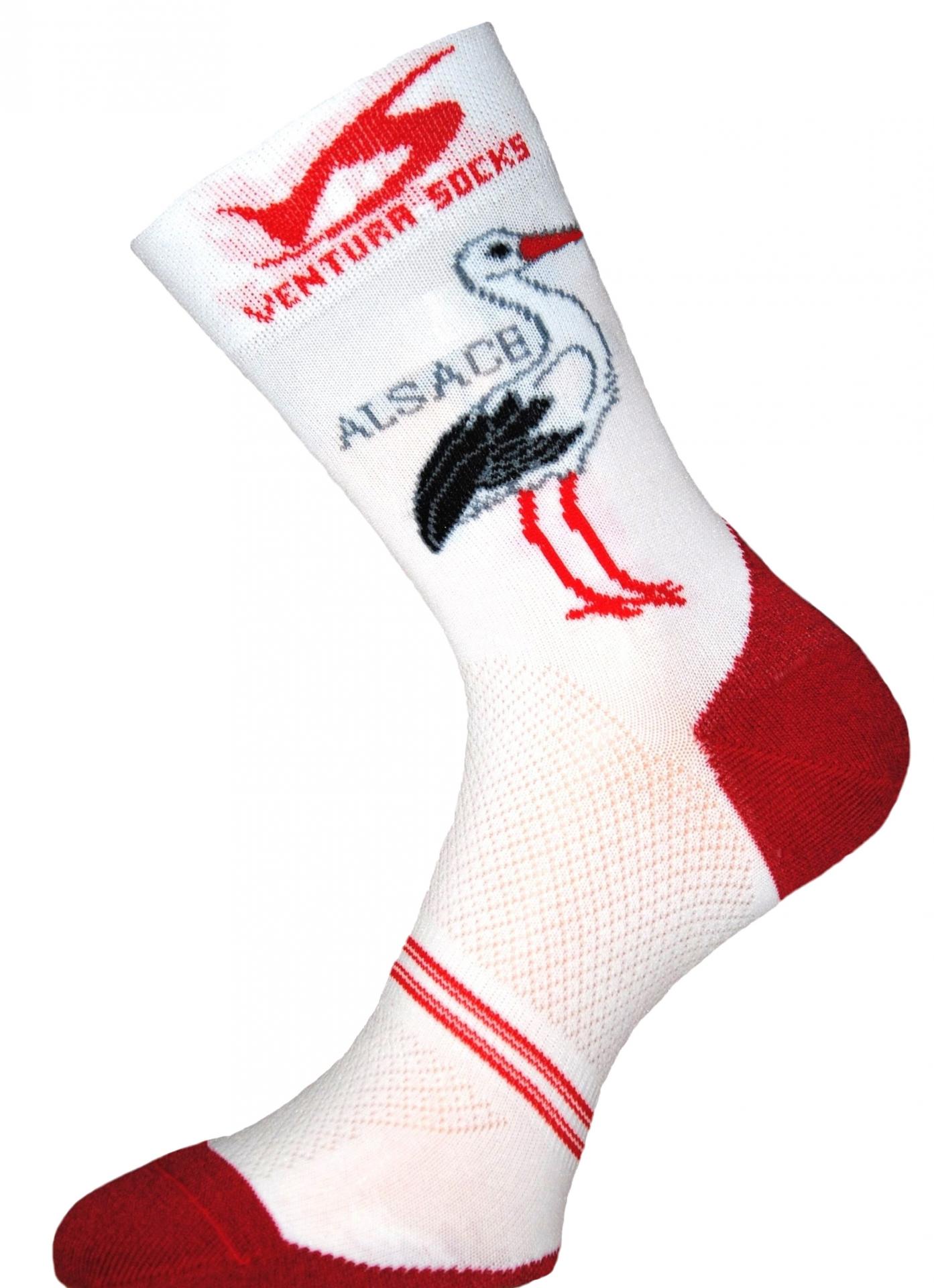 Chaussettes Ventura Socks Carbone Région Alsace - 39/42