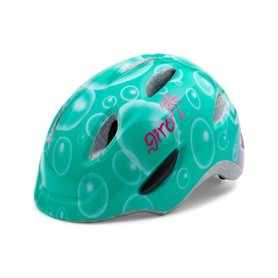 Casque enfant Giro SCAMP Turquoise Bulles - 45-49 cm