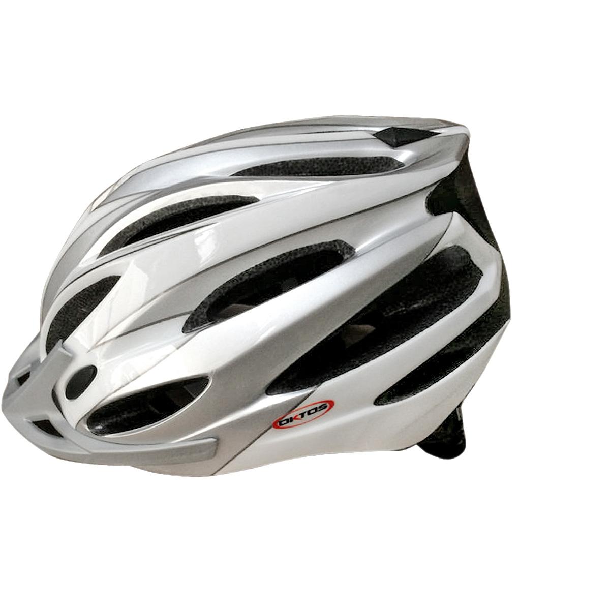 Casque vélo Oktos Adulte Gris / Blanc - 54/58 cm