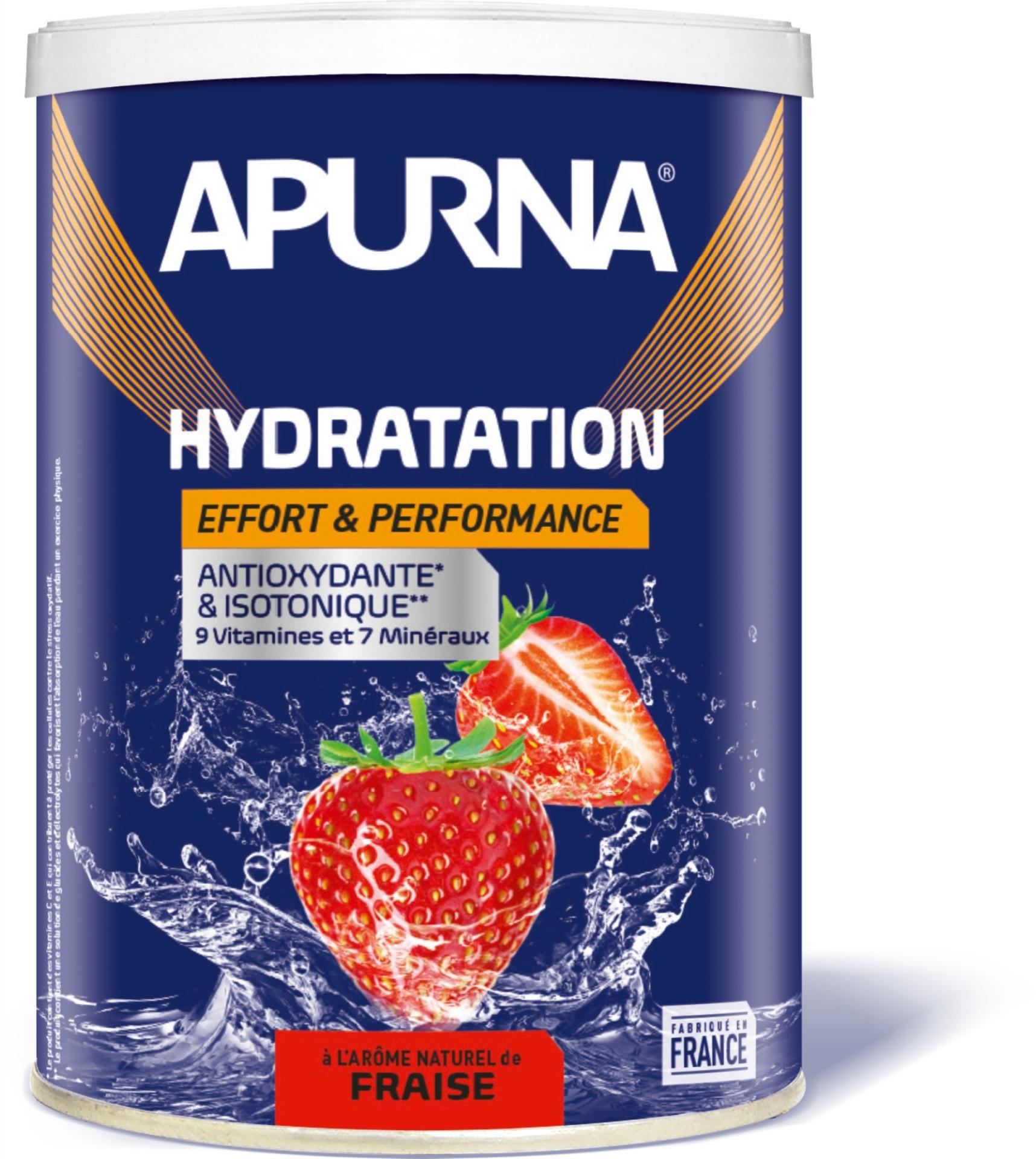 Boisson hydratation Apurna énergie Fraise 500 g