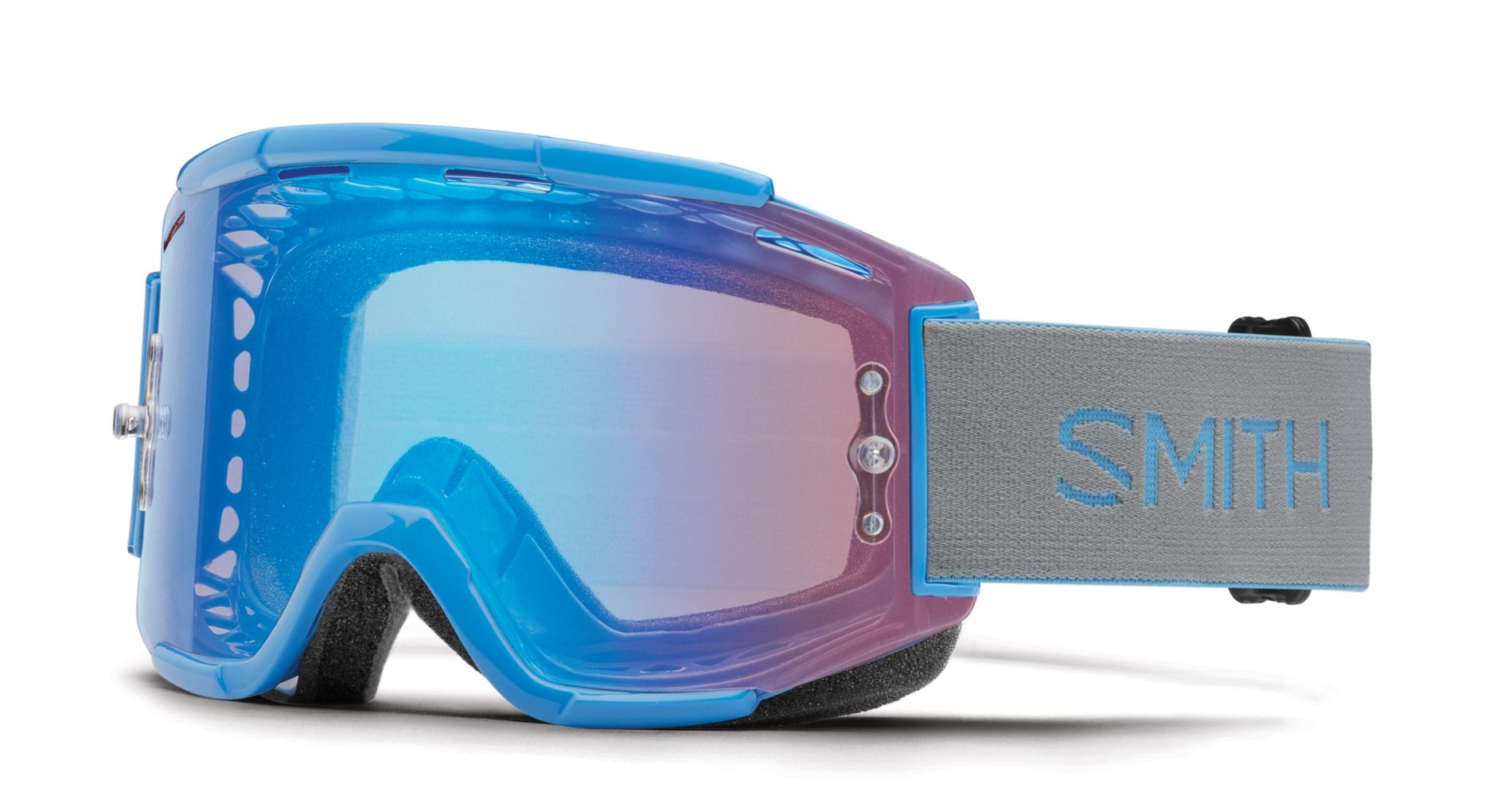 Masque Smith Optics Squad MTB Bleu French ChromaPop Contrast Rose Flash