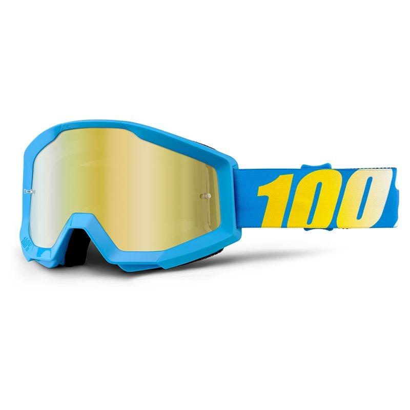 Masque 100% Strata mirror gold lens bleu