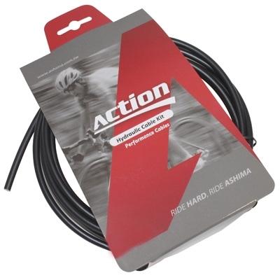 Durite de frein VTT hydraulique Ashima Action 2500 mm Noir (kit avec banjos)