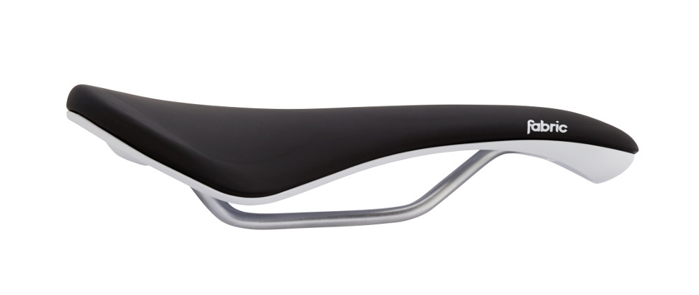 Selle Fabric Scoop Woman Gel Radius Elite femme 155 mm Noir/Blanc