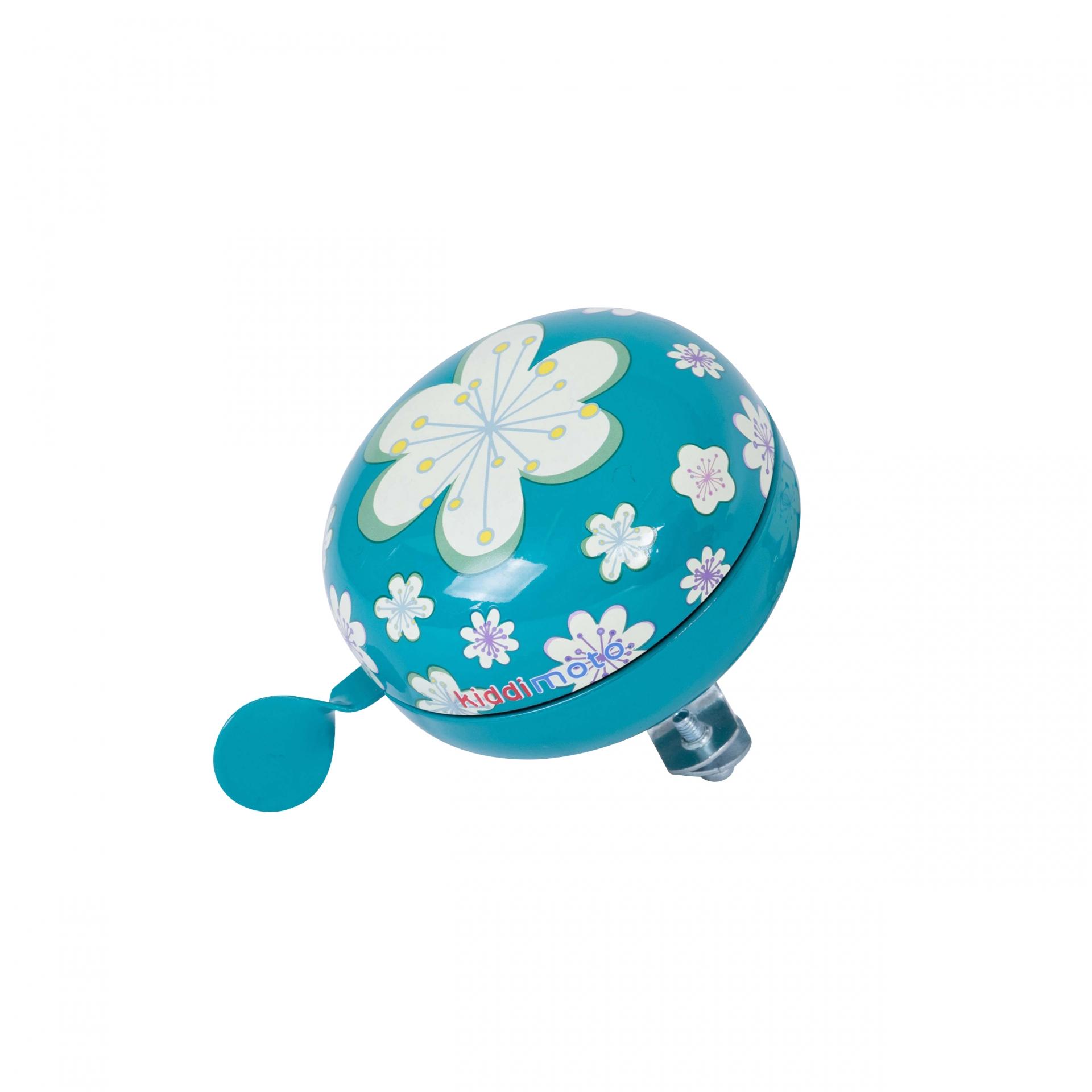 Sonnette Kiddimoto 80 mm Fleur Bleu