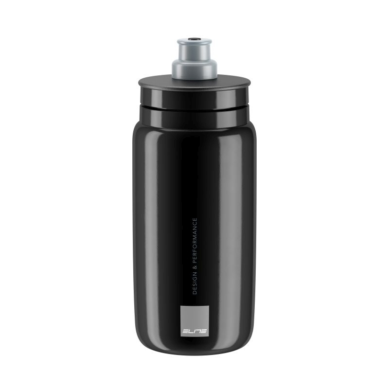 Bidon Elite Fly Logo 550 ml Noir/Gris