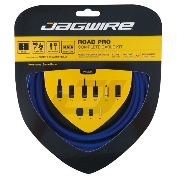 Kit complet câbles et gaines Jagwire Road Pro - Bleu SID RCK007