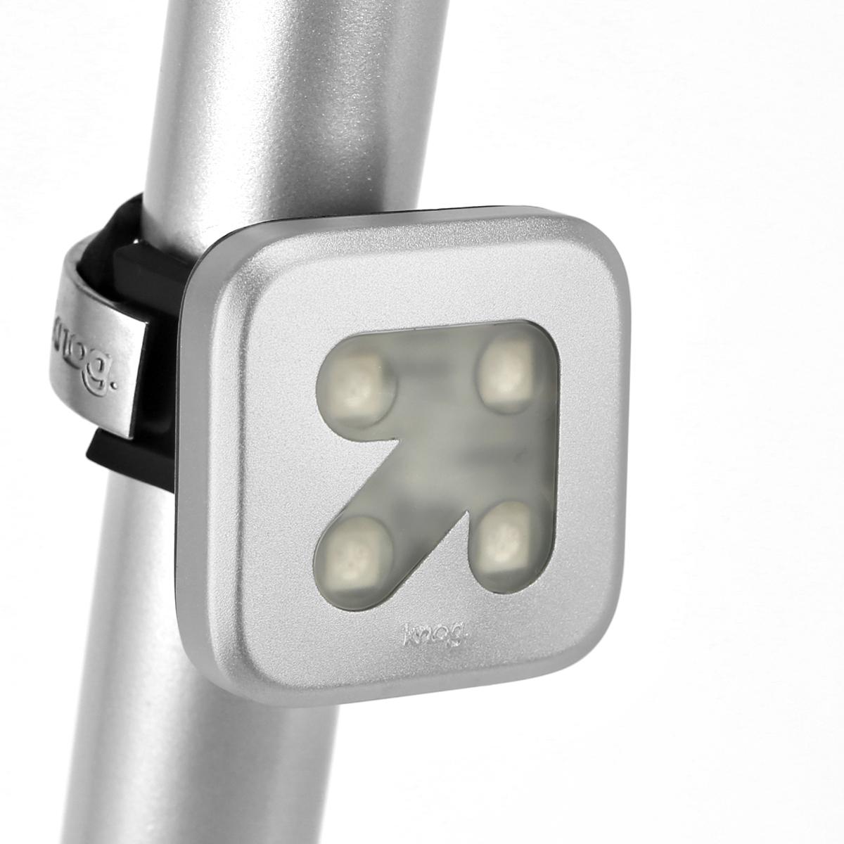 Éclairage arrière Knog Blinder Flèche 4 LED - Argent