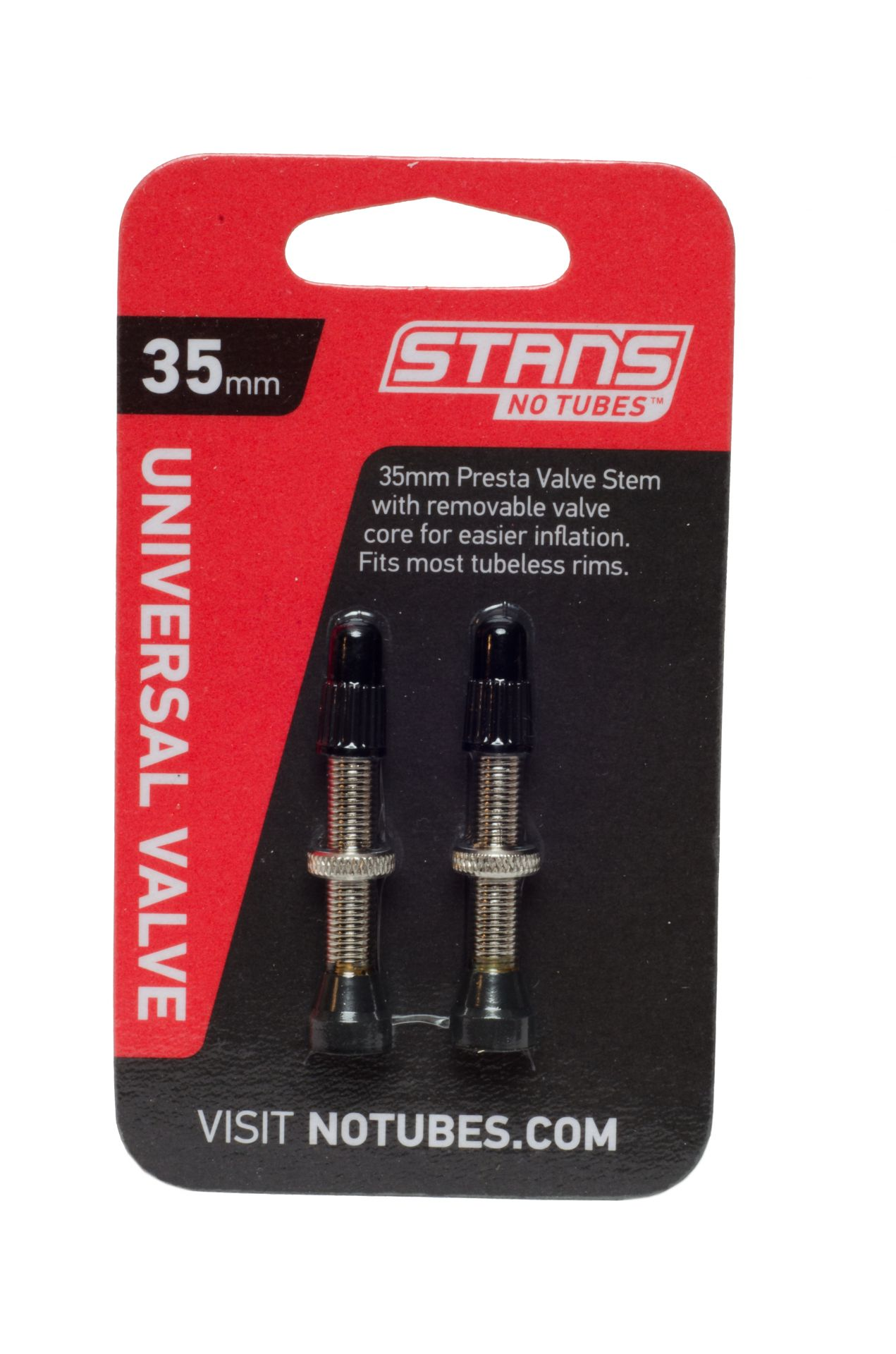 Valves tubeless universelles Stan's Presta 35 mm (paire)