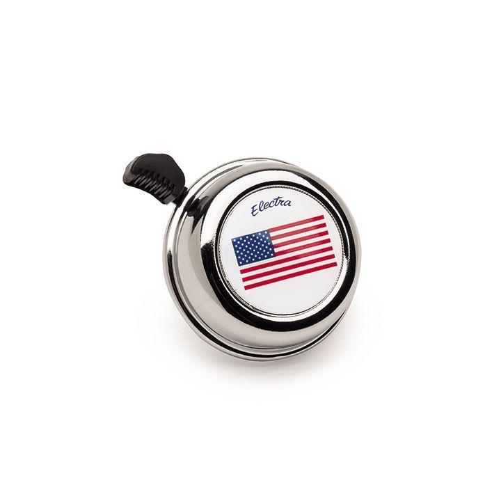 Sonnette Electra drapeau américain Chrome