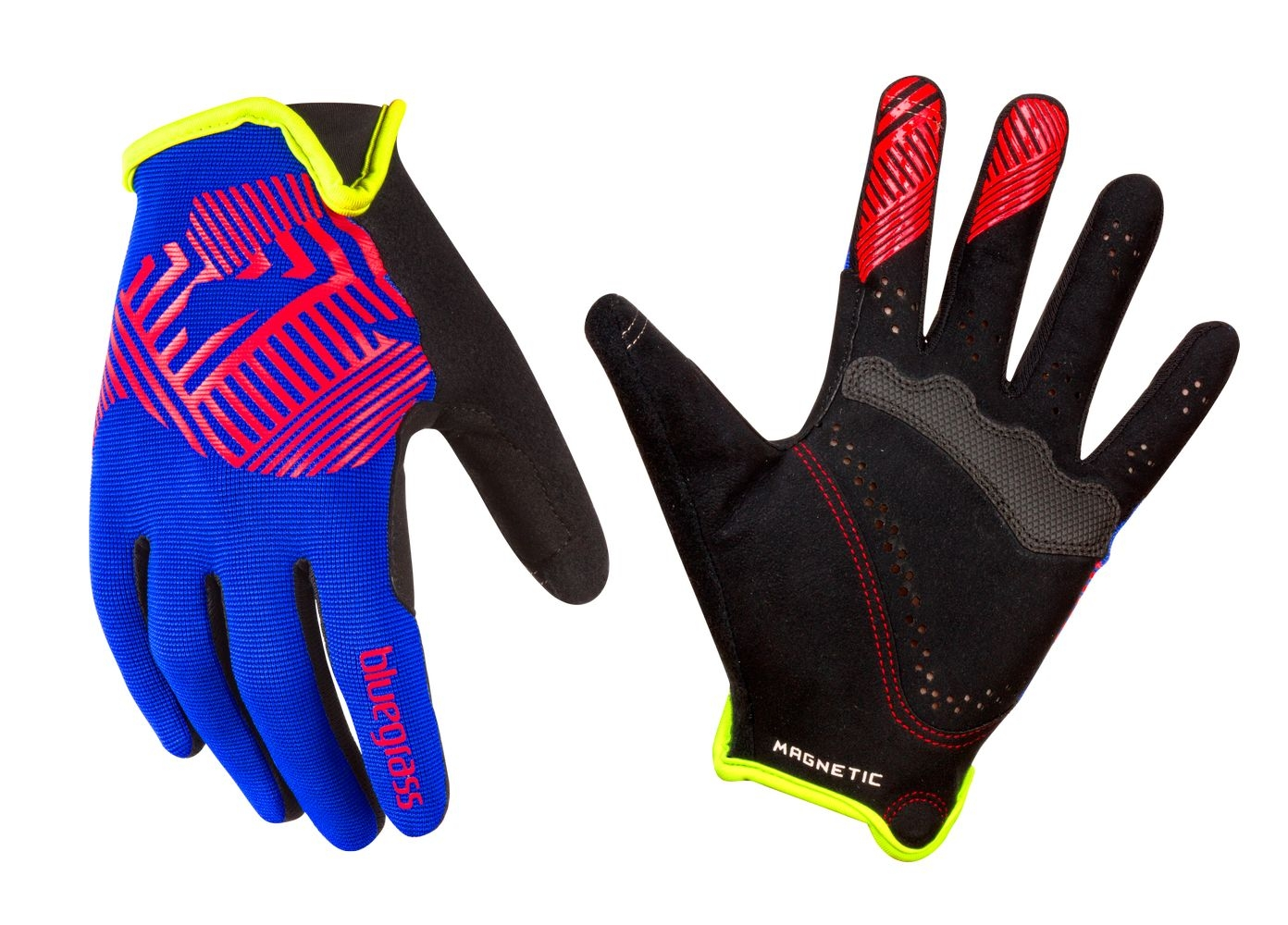 Gants Bluegrass Magnete Rock blue/rouge/vert - M