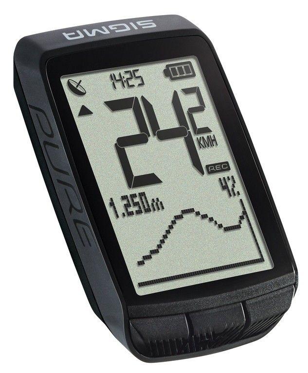 Compteur Sigma Pure GPS 13 fcts Noir
