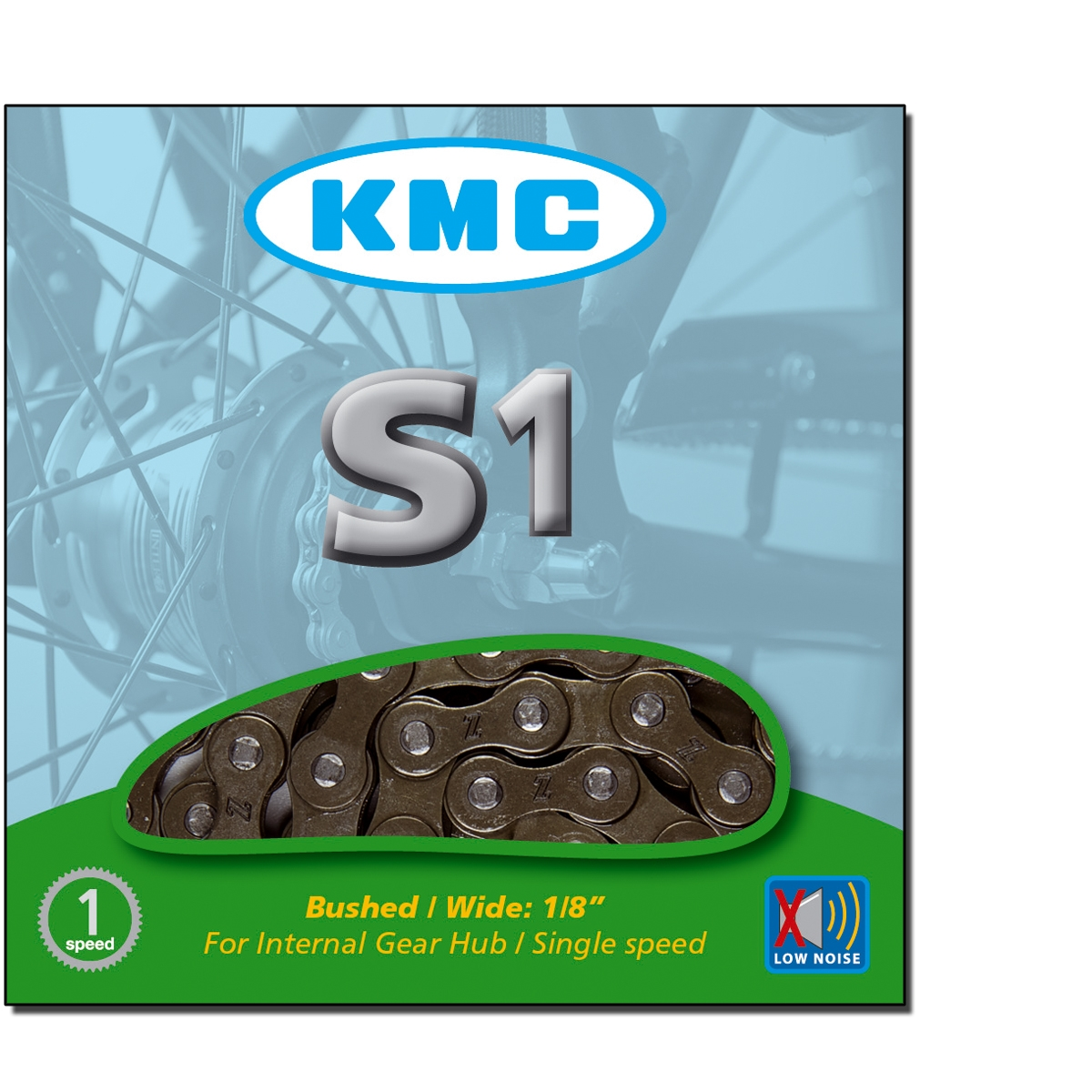 Chaîne vélo KMC 1 Vitesse S1 1/2\